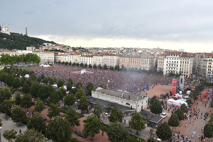 Retransmission de la Coupe du Monde Place Bellecour
