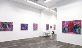 """Galerie Anne-Marie et Roland Pallade à l'occasion de l'exposition """"Consonances colorées"""" de Claire Vaudey"""