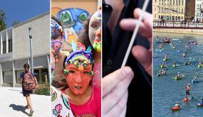 Temps forts de la rentrée : rentrée des classes au nouveau groupe scolaire Françoise Héritier, fabrique de masques durant le temps périscolaire, un nouveau chef à l'ONL, le Lyon Kayak