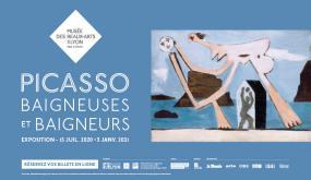 Affiche exposition Picasso. Baigneuses et baigneurs