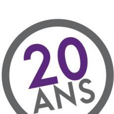 Logo 20 ans de l'inscription de Lyon au patrimoine mondial de l'UNESCO